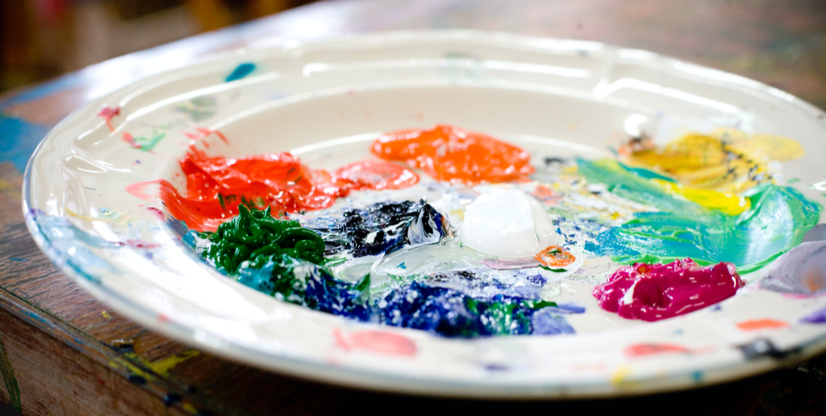 Art therapy paint palette