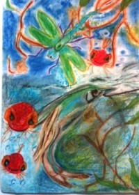 Art therapy fish painting